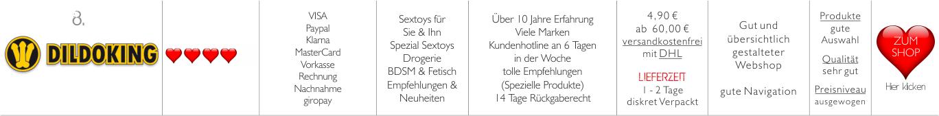 dildo-king, Erotikshops, Sexshops